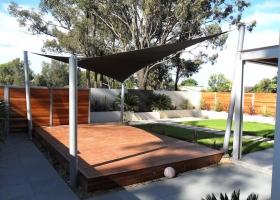 Black wood platform